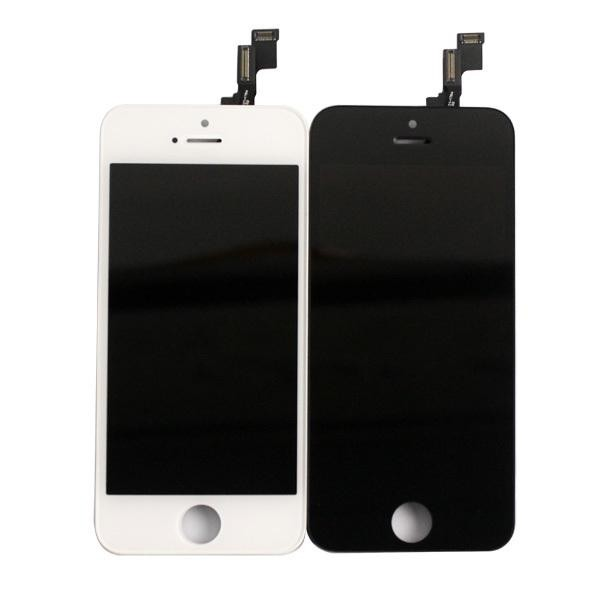 For iPhone 5S LCD Display and Touch Screen Digitizer Assembly with Frame Replacement - OEM Refurb